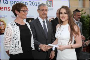 Cérémonie de remise des diplômes pour les élèves de terminale du grand lycée franco-libanais de Beyrouth