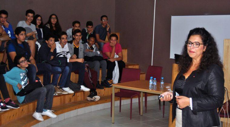 Merieme Chadid rencontre les élèves du Lycée Charcot d'El Jadida