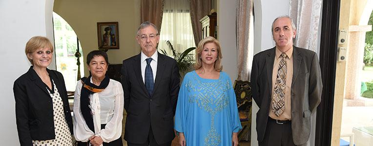 Jean-Christophe Deberre et Dominique Ouattara, le 7 juin 2017