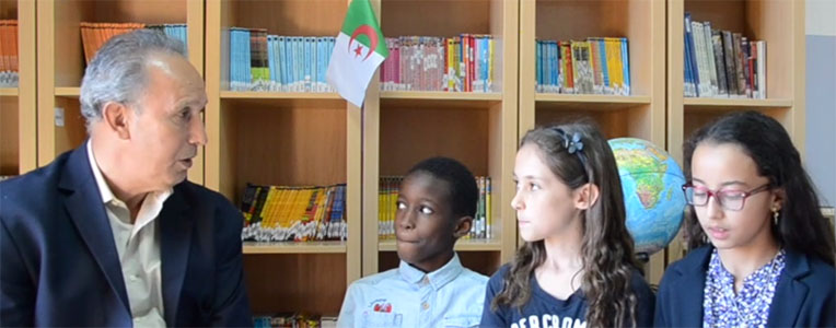 Said Saad et les élèves de CM1 de la Petite école Hydra, 2017