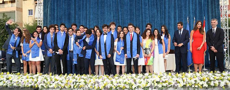 Remise de diplômes, Grand lycée franco libanais, juin 2017