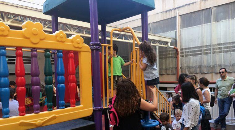 Jour de rentrée au Grand Lycée franco libanais, Beyrouth, septembre 2017