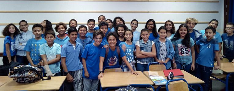 Blue shirt day au lycée d'Agadir