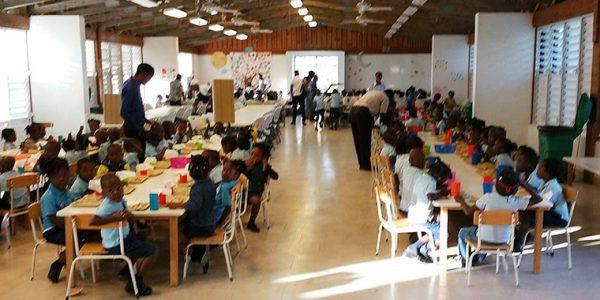 Petit-déjeuner des Tout-petits, Pointe du Sable, Saint-Marc, Haïti