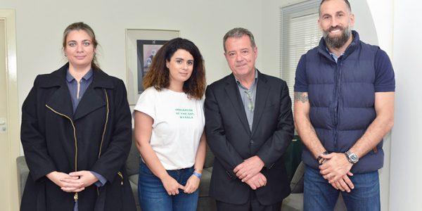 Sophie-Massonnat-CPE, Mira El Hachem, psychologue scolaire, Michel Sauzet, proviseur et Fadi El Khatib