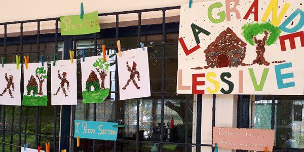 La Grande Lessive, Franceville, mars 2018