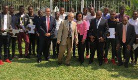 Sylvain Itté (au centre), ambassadeur de France en Angola - juillet 2018