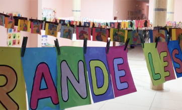 La Grande lessive, école Odette du Puigaudeau, OSUI