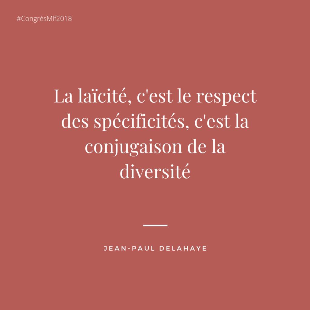 citation laïcité - congrès Mlf