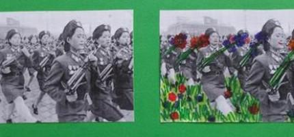 Une armée de femmes en défilé de femmes portant des fleurs (Dimitri)
