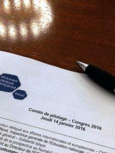 2e Comité de pilotage congrès 2016