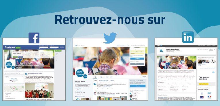Retrouvez la Mission laïque française sur les réseaux sociaux