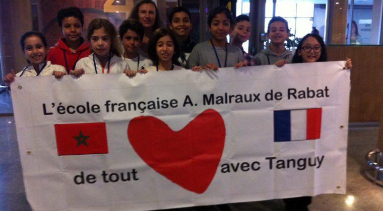 Les élèves au départ de Rabat