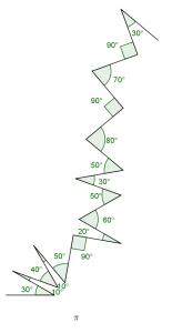François Morellet, articulation des segments de droites selon des angles déterminés