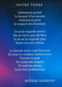 poème de Mathilde - Okpo 2017