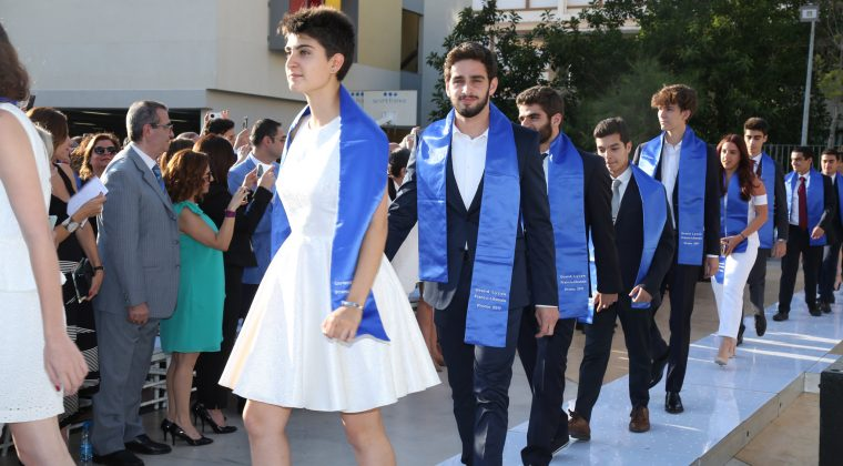 La promo 2017 des bacheliers du Grand lycée franco libanais lors de la cérémonie de remise des diplômes le 16 juin 2017