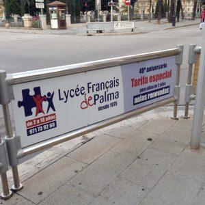 Signalétique lycée de Palma en milieu urbain 2015