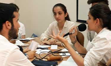 Activité radio à l'école française internationale Danielle-Mitterrand d'Erbil au Kurdistan d'Irak (septembre 2017)