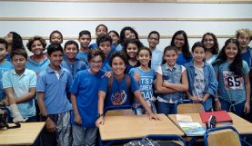 Blue shirt day au lycée d'Agadir