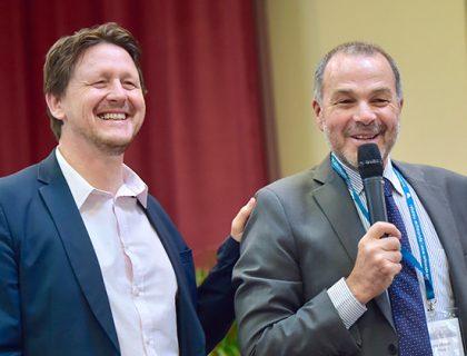 Michel Bur et Maxime Michel, séminaire des écoles d'entreprises, juillet 2018